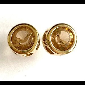 Peach gold stud earrings